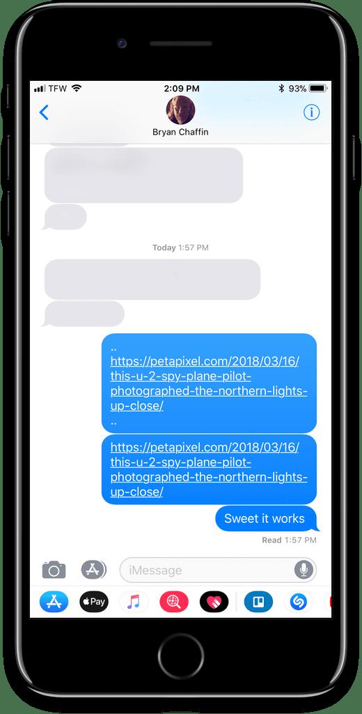 Espionner iMessage