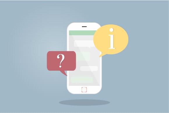 Acceso a los mensajes de texto